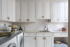 Lush Laundry Room by
