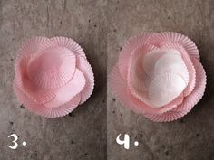 giochi di carta: giochi di carta #27 baking cups flower diy Diy Flowers, Paper Flowers, Flower Diy, Diy And Crafts, Crafts For Kids, How To Make Decorations, Diy Mode, Baking Cups, Baby Party