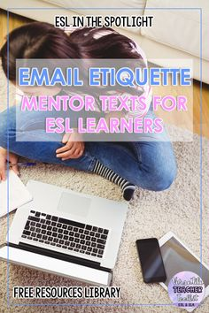 Free email etiquette mentor texts for ESL learners. Subscribe to the ESL in the Spotlight mailing list to gain access to our free resources library and download this practical resource. #emailetiquettementortexts #freebie #freeESLresources #writingskills #distancelearning #mentortexts #secondarylearners #ESL #teachingesllearners #VersatileTeacherToolkit #blog #ESlintheSpotlight Writing Activities, Teaching Resources, Teaching Ideas, Mentor Sentences, Mentor Texts, Esl Lessons, English Lessons, Best Language Learning Apps, English Games For Kids