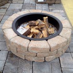 Backyard fire pit #landscaping #backyard #firepit