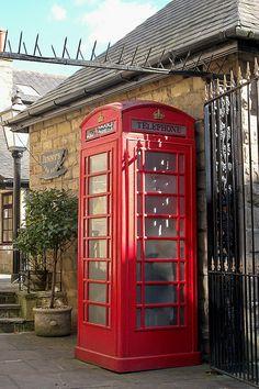Harrogate Telephone Box, England via Flickr. London Phone Booth, Telephone Booth, Post Box, England And Scotland, Street Furniture, London Calling, North Yorkshire, Lake District, British Isles