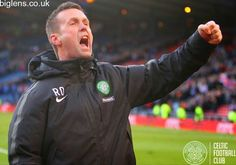 Celtic 2-0 Rangers, 1st February 2015. The Ronny Roar at full-time with the Celtic supporters inside Hampden