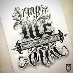 Sempre me rege me guarde me governe me ilumine amem By: Chest Tattoo Lettering, Calligraphy Tattoo Fonts, Tattoo Lettering Styles, Lettering Design, Gothic Lettering, Chicano Lettering, Vintage Lettering, Best Sleeve Tattoos, Body Art Tattoos