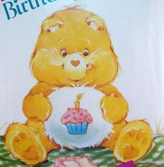 Care Bear Birthday Bear Pattern Vintage Butterick by WildPlumTree, $5.00