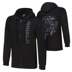 """The Shield """"Hounds of Justice"""" Full-Zip Hoodie Sweatshirt- large Wwe Shirts, Wrestling Shirts, Hooded Sweatshirts, Hoodies, Cosplay Outfits, Cosplay Diy, Full Zip Hoodie, Direct To Garment Printer, A Team"""