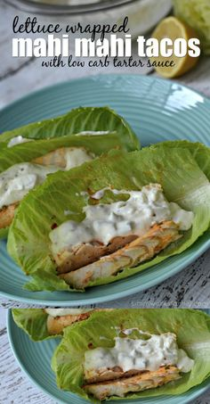 These low carb fish tacos sure do hit the spot! Especially with the homemade tartar sauce. And they're so easy to make too! Perfect for summer eats. via @simmworksfamily