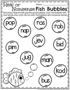 Nonsense Words, Cvc Words, Kindergarten Reading, Kindergarten Worksheets, Cursive Writing Worksheets, Cvc Word Families, Sounding Out Words, Sight Word Practice, Letter Recognition