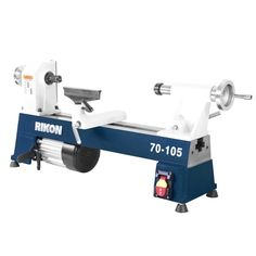 The Rikon Mini Lathe is a machine that is specifically designed for pen turners who need a sturdy, dedicated machine for their craft. It is constructed of a cast iron so the vibration is not a factor, unlike other lathes made of aluminum. Woodturning Tools, Lathe Tools, Wood Turning Lathe, Wood Turning Projects, Small Metal Lathe, Best Wood Lathe, Cast Iron Beds, Pen Turning, Lathe Projects