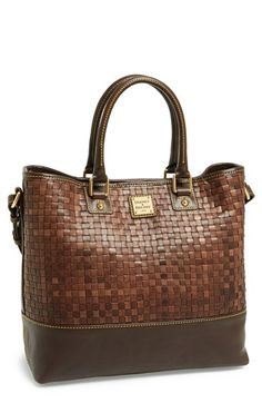 Dooney & Bourke Woven Leather Shopper available at #Nordstrom