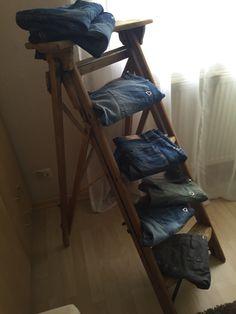 Alte Holzleiter,klappleiter,setzleiter Blumenstander Selber Bauen Alte Holzleiter