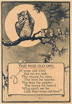 That wise old owl.