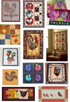 Quilt Inspiration: Free Pattern Day: Chickens What do you think about urban chickens: do they make perfect pets, or noisy neighbors? Whether you raise them or not, chickens bring to mind sunny breakfasts in country kitchens.  Here are some free patterns, from flamboyant roosters to funky chickens.  This post was updated on October 22, 2014.