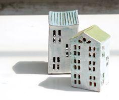 Garten Dekoration-Kerze Laterne-Keramik Haus-Keramik und von Vsocks