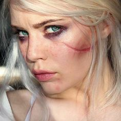 WEBSTA @ mirandahedman - Coming soon! #ciri #Cirilla #witcher #witcher3 #makeup #ashenhair @cdpred