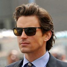 Business Hairstyles For Men - Long Flowing Brushed Back Hair