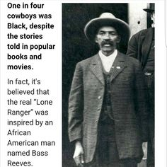 "1,974 Likes, 34 Comments - The Pan-African (@thepanafrican) on Instagram: ""Hey there cowboy: Bass Reeves The actual Lone Ranger..escaped slavery, lived with the Cherokee…"""
