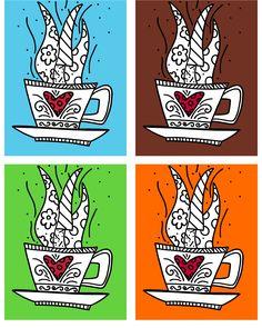 Romero Britto art print