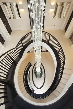 Modern English Mansion Location: London, United Kingdom This newly built seven-bedroom house in London has an interior inspired by a ocean liner. Luxury Life, Luxury Homes, Mansion Designs, Take The Stairs, Refuge, Stairway To Heaven, My New Room, Interiores Design, Shades Of Grey