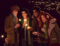 Fan Art Harry Potter - Happy New Year! - Page 3 - Wattpad Lily Potter, Harry Potter Fan Art, Mundo Harry Potter, Harry Potter Drawings, Harry Potter Quotes, James Potter, Harry Potter Universal, Harry Potter Fandom, Harry Potter World