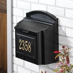 Whitehall Products 160 Wall Mailbox $145 for Mailbox and then $50 for address plate