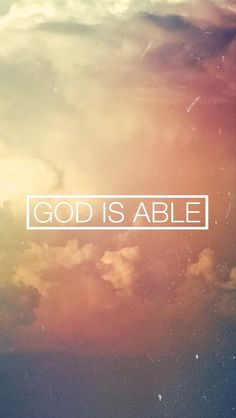 He will never fail / He is Almighty God / Greater than all we know / Greater than all we hope / He has done great things / Lifted up he defeated the grave / Raised to life our God is able / in His name we overcome / for the Lord our God is able