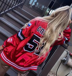 """Peyton Parker on Instagram: """"Let's go five one ❤️🤍 New threads new swag #khl"""" Hockey Outfits, Swag, Instagram"""