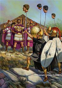 Фракийцы показывают царю Персею отрубленные головы