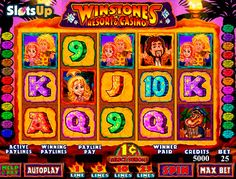 Have fun in Stone Age casino together with the Winstones Resort and Casino slot! This entertaining 5-reel, 25-payline video slot belongs to Genesis Gaming portfolio. It offers the feature-packed gameplay in the company of the Winstones' family and prehistoric animals. Benefit from Scatters and Wilds symbols, free spins with multipliers and a bonus game. Spin the prehistoric wheel of fortune on SlotsUp.com right now.
