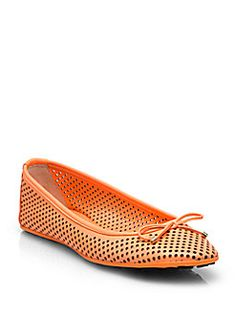 Jimmy Choo - Walsh Perforated Leather Ballet Flats Shop at Saks Fifth Avenue at 150 Worth Ave in Palm Beach FL