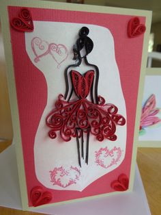Quilled Birthday Girl Card by Karen Miniaci. Quilling Supplies from 'Quilled Creations'