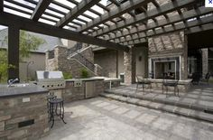 Step Up to Hearth & Attached Outdoor Kitchen