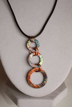 Copper Washer Trio Pendant by ChelestersCreations