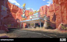 Overwatch - Route 66, Nick Carver on ArtStation at https://www.artstation.com/artwork/6Rrq0