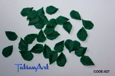 20 pcs double-sided SMALL leaf beads 0.59-0.78 inch Polymer clay beads - For making jewelry - leaf beads - plant beads. CODE:027 di FlowerClaySupplies su Etsy