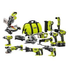 Get them started on that reno project you've always dreamt of with this Ryobi power tool combo kit.