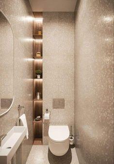 Toilet room - Simplicity beauty on Behance Bathroom Design Luxury, Modern Bathroom Design, Small Luxury Bathrooms, Small Bathroom Interior, Bad Inspiration, Bathroom Inspiration, Bathroom Ideas, Bathroom Organization, Bath Ideas