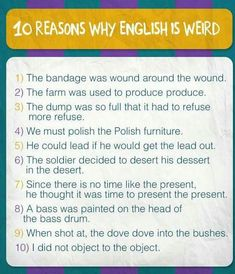 Why english is weird