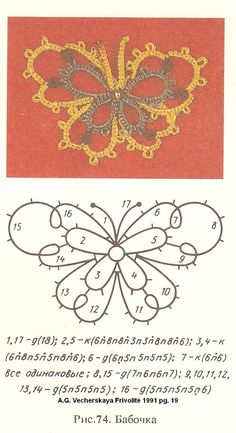sample tatting pattern pg. 19 Vecherskaya Russian tatting book