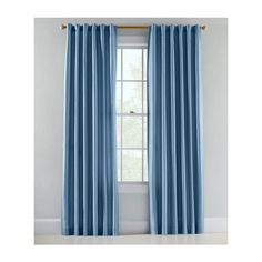 Prospect and Vine Niles Silk Blend Lined Back Tab Curtains Pair ($150) ❤ liked on Polyvore featuring home, home decor, window treatments, curtains, dusk blue, blue curtains, blue window treatments, tab curtains, lining curtains and blue home decor