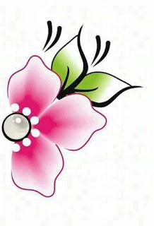 Star Painting, One Stroke Painting, Fabric Painting, Flower Images, Flower Art, Stencils, Floral Drawing, Embroidery Patterns, 3 D