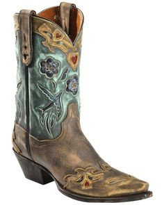 Dan Post Blue Bird Wingtip Cowgirl Boots - Snip Toe, Copper, hi-res Womens Cowgirl Boots, Western Boots, Cowboy Boots, Western Wear, Boots Women, Vintage Boots, Vintage Leather, Dan Post Boots, Wedding Boots