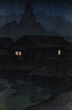 Kawase Hasui I really like his night time and rainy works. S