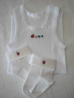 Hand Embroidered Two Piece Baby Set