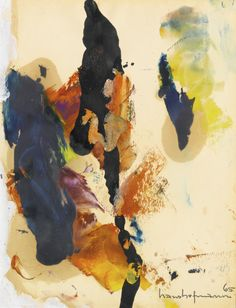 transistoradio: Hans Hofmann December Series No. 12 oil on paper, 21 x cm. Via Sotheby's. Abstract Painters, Abstract Art, Hans Hofmann, Mid Century Art, Abstract Expressionism, Art World, Painting & Drawing, Collages, Modern Art