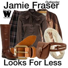 A Looks For Less inspired by Sam Heughan as Jamie Fraser on Outlander. Tv Show Outfits, Fandom Outfits, New Outfits, Chic Outfits, Inspired Outfits, Scottish Clothing, Brown Outfit, Cute Skirts, Character Outfits