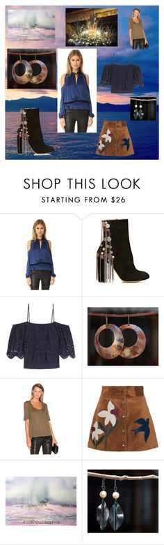 """""""Sunrise In The Ocean"""" by flower-of-paradise ❤ liked on Polyvore featuring Ramy Brook, Chloé, Ganni, A.L.C. and RED Valentino"""