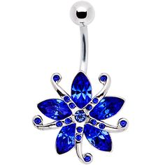 Ocean Blue Gem STARFISH Belly Ring (not that I'd ever get one, but it's still cool)