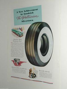 1940 GOODRICH Tire advertisement, Patrician Silvertown Whitewall tire in Objets de collection, Publicité, Pneus | eBay