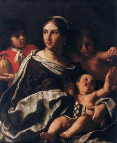 Elisabetta Sirani. Portrait of Anna Maria Ranuzzi Marsigli as Charity.1665. Oil…