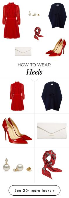 """""""Untitled #5495"""" by mie-miemie on Polyvore featuring Christian Louboutin, Harris Wharf London, Vera Bradley and Valentino"""